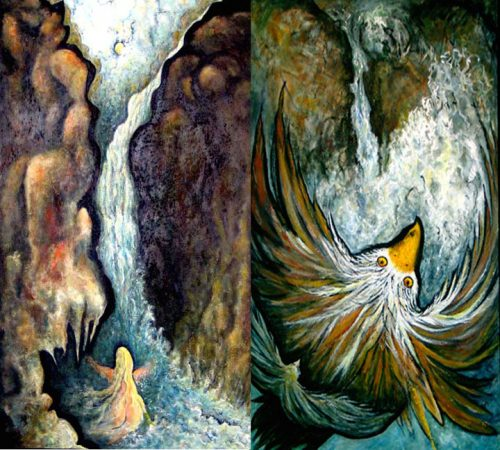 Cascade/Soaring (Diptych)